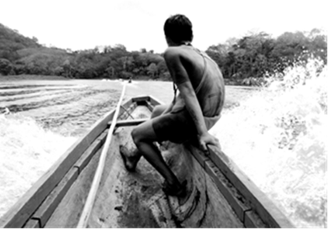 """Dug out canoe ride to the """"best"""" authentic village, Embera Puru."""