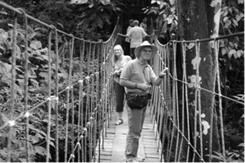 This is your chance to explore the rain forest. Rope bridge to Anton's waterfall.